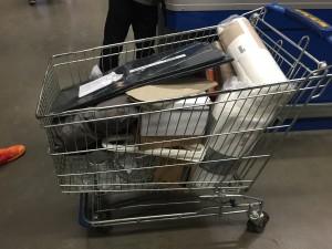 Een kar vol spullen, alleen voor mij!